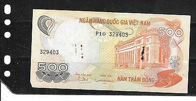 SOUTH VIETNAM #28a 1970 GOOD CIRC OLD 500 DONG BANKNOTE PAPER MONEY BILL NOTE