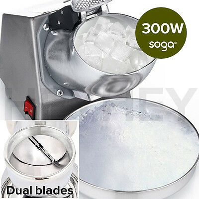 Dual Blade Electric Stainless Steel Ice Crusher Shaver Slicer Machine Commercial