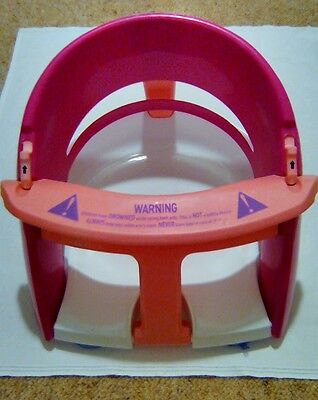 Baby Bath Insert Seat With Suction Caps & Fold Down Belly Bar