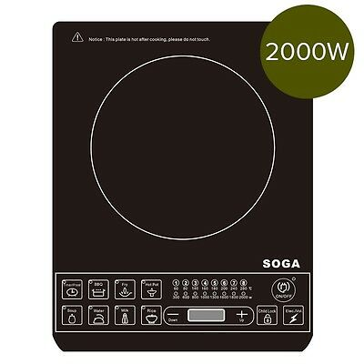 NEW SOGA Electric Smart Induction Cook Top Portable Kitchen Cooker Cookware