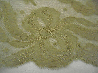 "Antique lace Flounce Trim or Collar - 6"" deep - Handmade"