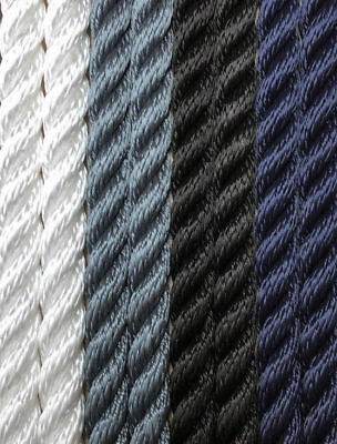 Mooring rope - 3 Strand 8mm - Floating - Fishing - Various Colours/Lengths