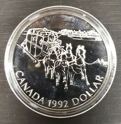 Canada Silver Dollar - $1 COIN - 1992 Kingston Stage Coach
