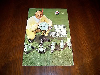 ROCKWELL PORTABLE POWER TOOLS CATALOG, Arnold Palmer, 1966, Golf, Saws, Drills