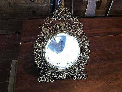 Best Antique Bronze Victorian Ornate Gargoyle Beveled Mirror 19th Century