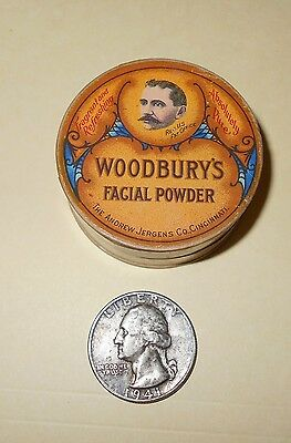 Vintage Woodburys Facial Powder Free Sample Cardboard Container Not Tin