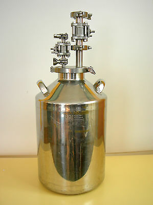 Eagle BTB27 316 Stainless Carboy 20L fitted w/ fill dispense head, 2 ball valves