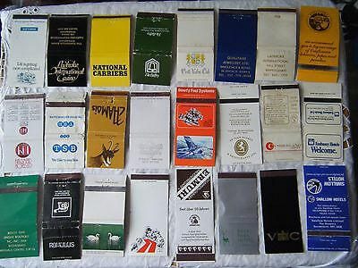 24 Assorted Vintage Match Book Covers, Lot 2