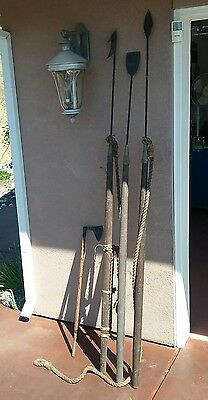 Vintage Whale Harpoon Maritime Whaling Toggle Spear Fishing 4 Piece Set