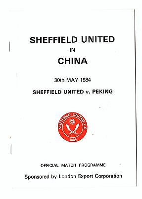 May 1984 Friendly  Sheffield United in China  & 3  Match reports