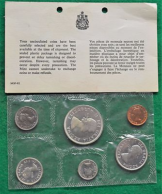 1964 Canadian Mint Set: Uncirculated Proof-Like In Original Plastic With Paper