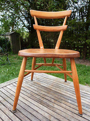 Stunning Vintage Mid Century Ercol? Elm Seat Childs Chair.