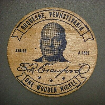Duquesne, Pennsylvania, Golden Jubilee 1891-1941 Wooden Nickel  V