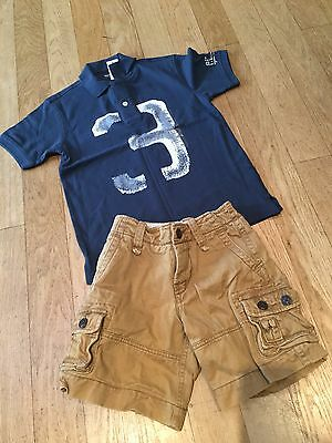 Boys Gap Small Summer Bundle Outfit Age 5 ..polo Top & Shorts * New *