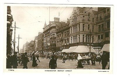 Manchester - a photographic postcard of Market Street
