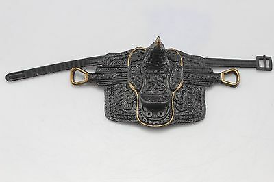 Adjustable Horse Saddle For Model Horses. Rubber But Has Leather Look.