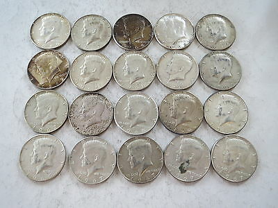 Kennedy Half Dollar 50C 50 Cents 40% Silver Clad Lot of 25 free shipping