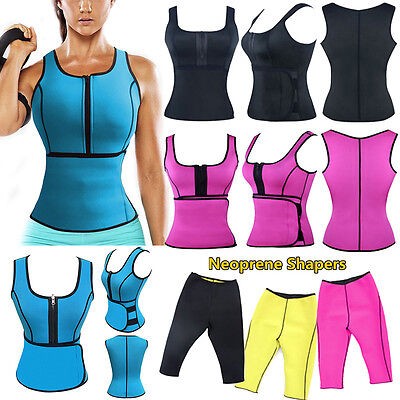 Hot Neoprene Slimming Thermo Sauna Suit Body Shaper Vest Yoga Pant Waist Cincher