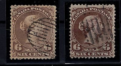 P23175/ CANADA – SCOTT # 27 – 27a OBL SIGNES / USED SIGNED 250 €