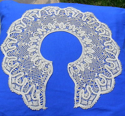 Antique  Silk Handmade Bobbin Lace Collar