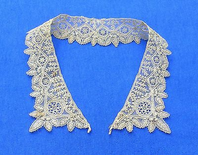Antique Brussels Point de Gaze Lace Collar Baby or Doll # 1