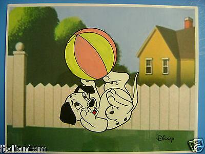 Hand Painted Handpainted 101 Dalmatians Puppy Animation Cel Cell Art