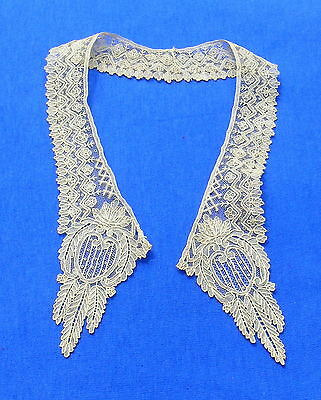 Antique Brussels Point de Gaze Needle  Lace Collar Baby or Doll # 2