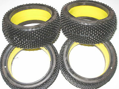 Losi reptile 1/8 tyre insert set 4 tyres 4 inserts medium soft silver compound
