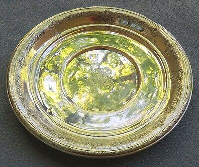 International Sterling Silver 9 Inch Large Plate Floral Flowers & Baskets Border