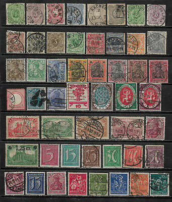 [X-436] Germany Small Lot of Mint and Used Older Stamps