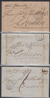 GREAT BRITAIN, 1849. Incoming Folded Letters (6), Cologne