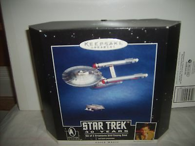 NIP 1996 Hallmark Keepsake Star trek 30 years Enterprise Ornament-Voice Magic