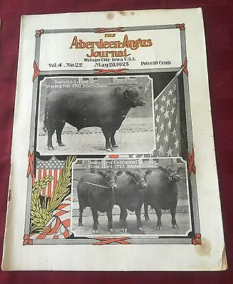 The Aberdeen-Angus Journal Vol. 4 No. 22, May 28, 1923 RARE VINTAGE FARM