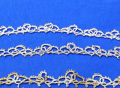 Vintage Tatted Tatting Lace Trim 3 pieces