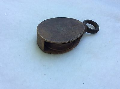 Antique Brass Pulley 3""