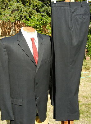 1960s 3 button BLUES BROTHERS Suit 44R 37x29 EXLNT Sheen & Alterable Dated 1964