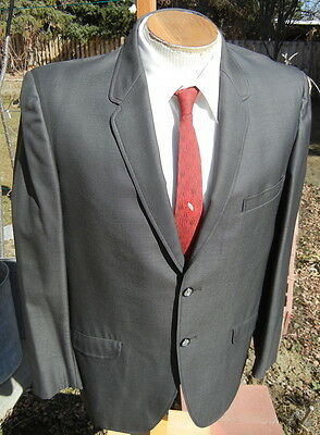 Classic 1960s SHARKSKIN Sport Coat 44S - Alterable Shiny Sewell Supreme Jacket