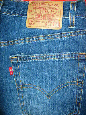 Mens Levis Jeans 550 Size 33 X 30 Relaxed Fit Leg Straight Usa