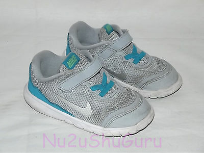 NIKE Flex Experience 4 Gray/Blue/White Sneakers Toddler Size 8