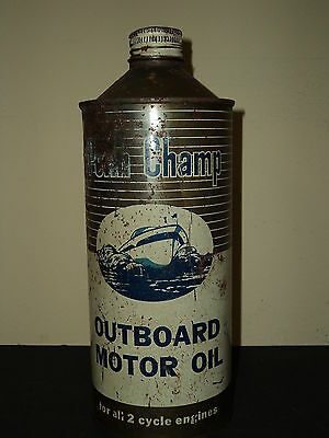 Vintage Penn Champ Outboard Motor Oil Cone Top Can Boat