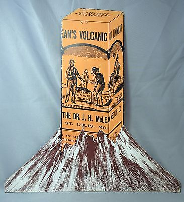 Original Antique VOLCANIC OIL LINIMENT MEDICAL Advertising Store Display Sign
