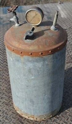 Original Small Riveted Galvanized Water Fuel Tank Hit Miss Gas Engine