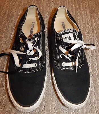 CONVERSE ALL STAR Black Canvas Lace-Up Sneakers / Boat Shoes Women's 9 / Men's 7