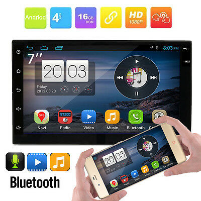 7'' Quad Core Android 5.1 3G WIFI GPS Double 2DIN Car Radio Stereo MP5 Player AU