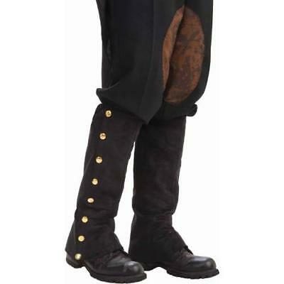Forum Novelties Men's Adult Steampunk Suede Spats Costume Accessory, Black, New