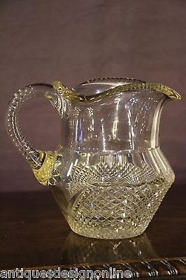 Superb antique IRISH cut GLASS JUG PITCHER  1800s late Georgian Regency original