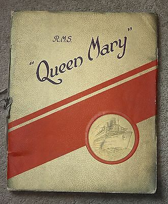 Cunard White Star Line Rms Queen Mary Maiden Voyage Artwork Brochure