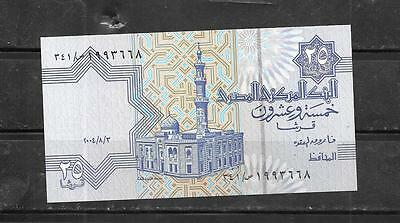 EGYPT #57e 2004 25 PIASTRES unc CURRENCY BANKNOTE BILL NOTE PAPER MONEY