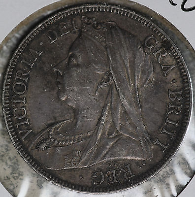 Nice 1897 Great Britain 1/2 Crown Silver Coin!
