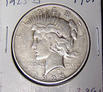 1923-D Peace Silver Dollar F/VF Better Date Denver Mint Dollar (122516)